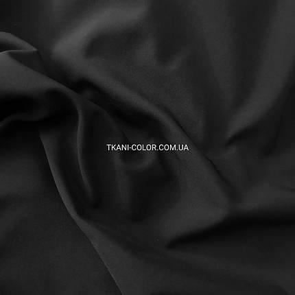 Ткань плащевка софтшелл (на флисе) черная, фото 2