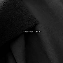 Ткань плащевка софтшелл (на флисе) черная, фото 3