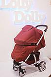 Прогулочная коляска CARRELLO Vista CRL-8505 во льне, Ruby Red, фото 3