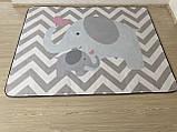 """Безкоштовна доставка! Килим в дитячу """"Мама слоник і малюк"""" утеплений килимок мат (1.5*2 м), фото 5"""