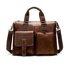Портфель кожаный мужской коричневый Marrant