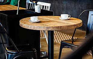 Деревянный круглый столик для кафе бара ресторана от производителя