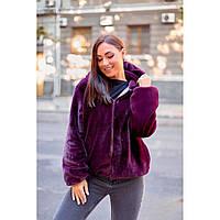 Меховая женская куртка Автоледи батальная арт 1378 с 48 по 62 размер(од-пр)