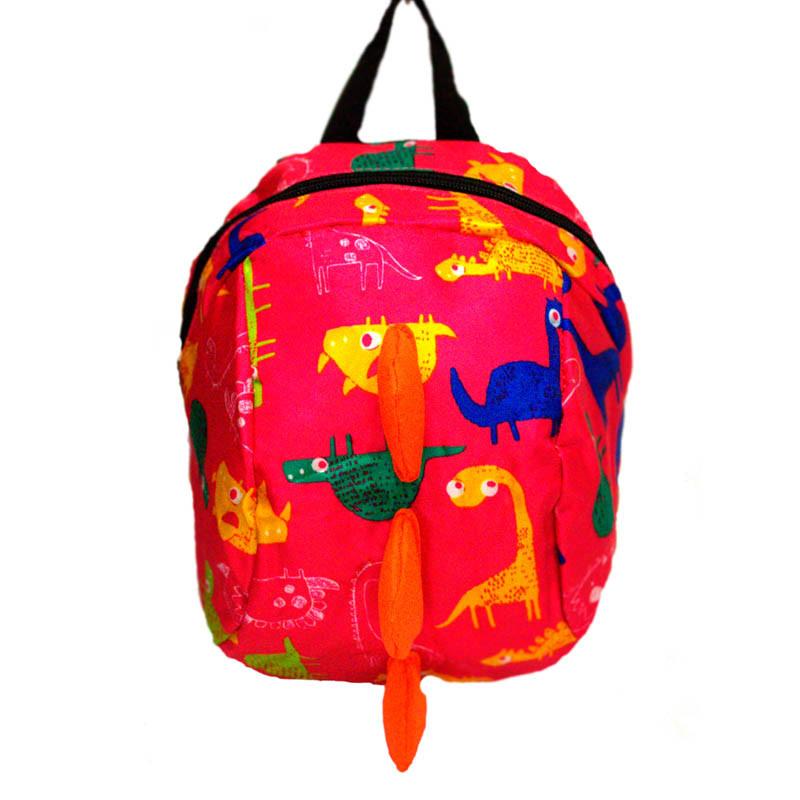 """Детский рюкзак """"Dinosaur """" 3 Цвета Розовый."""