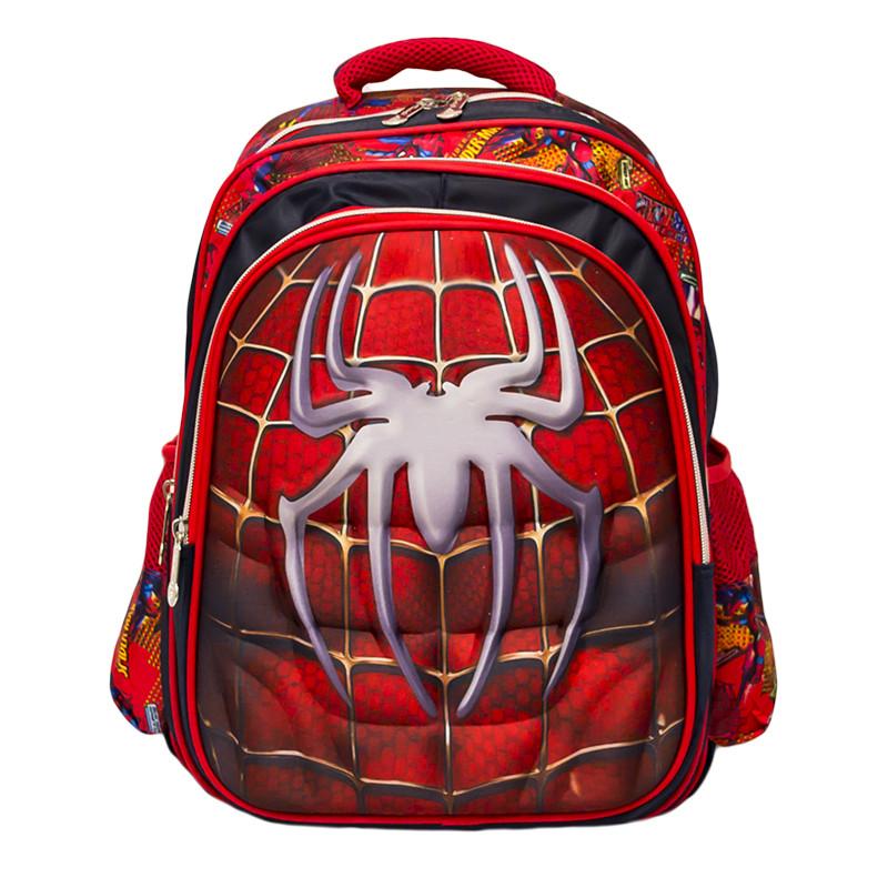 Детский рюкзак-чемодан 4 рисунка  (Spiderman) Цвет Красный