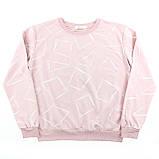 Кофта женская коттоновая розовая, стильный осенний свитшот, фото 5