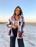 Рубашка женская Клетка 42-46 рр., фото 3