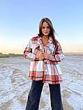 Рубашка женская Клетка 42-46 рр., фото 4