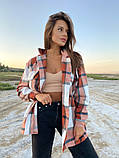 Рубашка женская Клетка 42-46 рр., фото 7