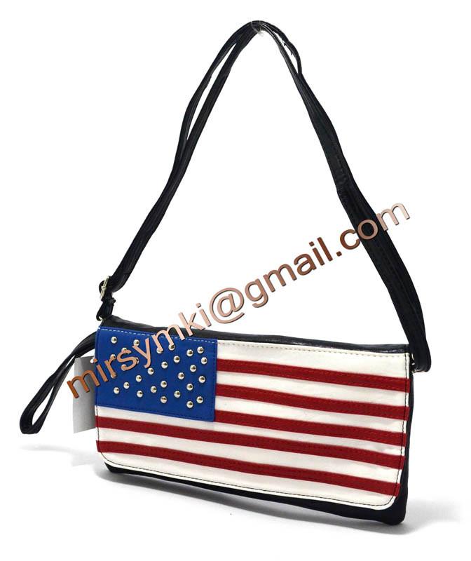 Клатч женский американский флаг black