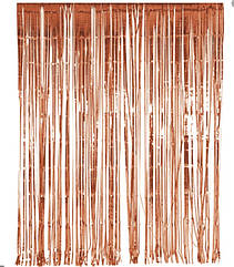 Шторка-завіса з фольги для фотозоны рожева матова 3 х1 метр