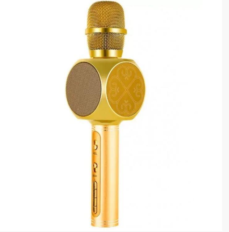 Караоке-микрофон портативный Y-63 7051, золотой