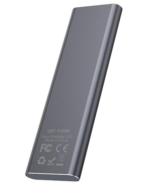 Внешний накопитель SSD Type-C HOCO UD7 512GB, серый