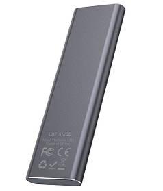 Зовнішній накопичувач SSD Type-C HOCO UD7 512GB, сірий