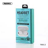 Навушники Bluetooth REMAX Stereo TWS-2S в кейсі, сріблясті, фото 3