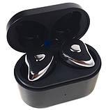 Навушники безпровідні Bluetooth HBQ SE6 з кейсом, чорні 6937, фото 2