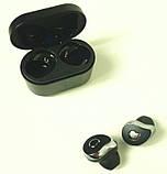 Навушники безпровідні Bluetooth HBQ SE6 з кейсом, чорні 6937, фото 3