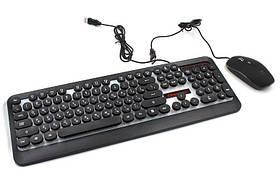 Комплект дротова клавіатура ігрова LED і миша HK3970 6947