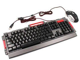 Комплект дротова клавіатура ігрова LED і миша K33 6946