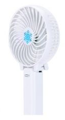 Ручной мини вентилятор трансформер handy mini fan с аккумулятором 18650 White
