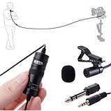 Петличный электретный конденсаторный микрофон Boya BY-M1 3,5мм с переходником, копия, фото 3
