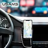 Держатель автомобильный USAMS Gravity Car Holder US-ZJ052, черный, фото 4