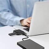 HUB адаптер BASEUS USB, Fully folded portable, 4USB, чорний, фото 2