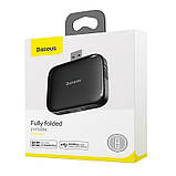 HUB адаптер BASEUS USB, Fully folded portable, 4USB, чорний, фото 8