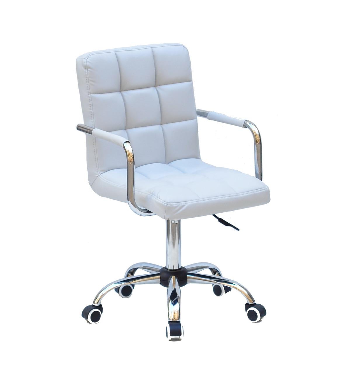 Кресло офисное  на колесах  AUGUSTO-ARM  CH-OFFICE  эко кожа  , СЕРЫЙ 1008