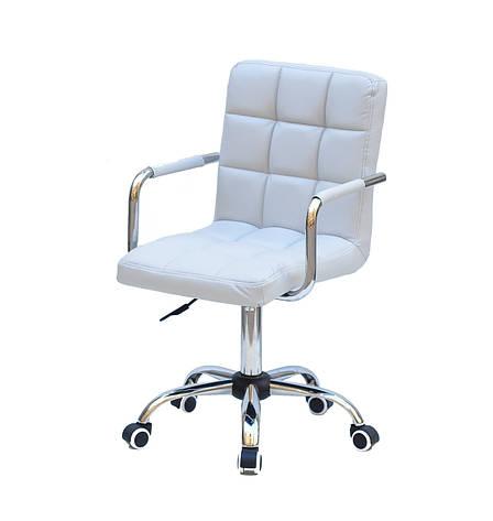 Кресло офисное  на колесах  AUGUSTO-ARM  CH-OFFICE  эко кожа  , СЕРЫЙ 1008, фото 2