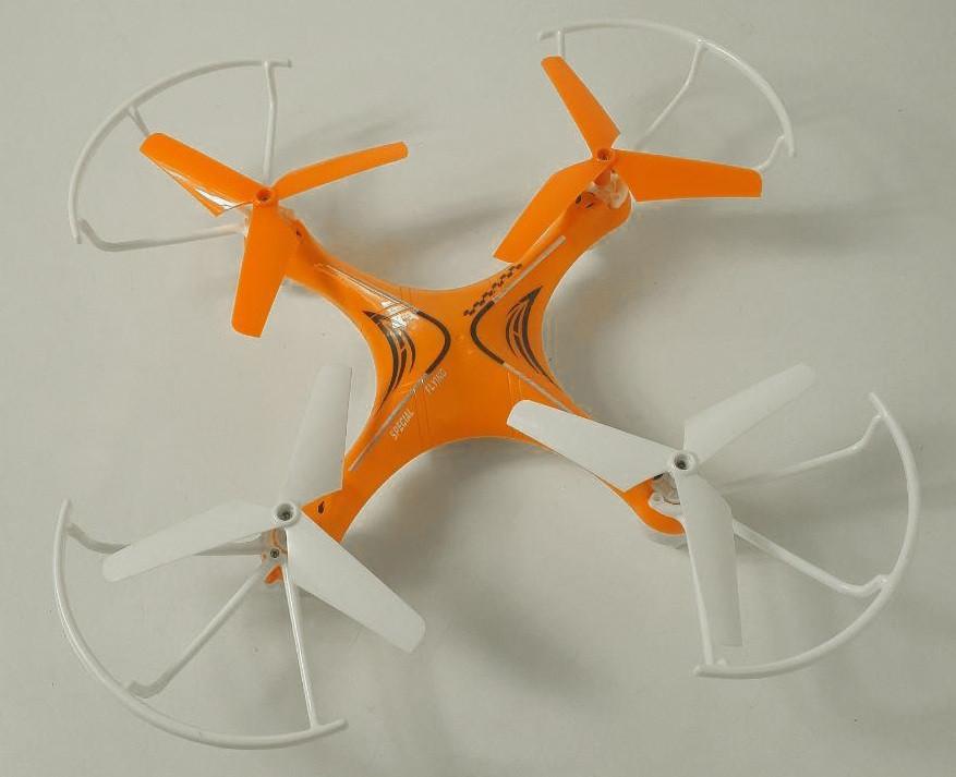 Квадрокоптер радиоуправляемый Voyager HX739 2.4Ghz, оранжевый