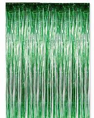 Шторка-занавес из фольги для кенди баров зеленая 100 х 300 см