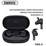 Навушники Bluetooth REMAX True TWS-6 в кейсі, білі, фото 4