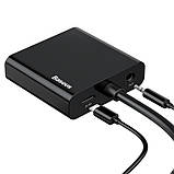 Переходник конвертер BASEUS HD Converter HDMI 4k на VGA, micro USB, DC3.5, фото 2