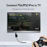 Переходник конвертер BASEUS HD Converter HDMI 4k на VGA, micro USB, DC3.5, фото 4