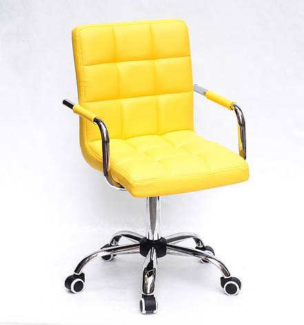 Кресло офисное  на колесах  AUGUSTO-ARM  CH-OFFICE  эко кожа  , ЖЕЛТЫЙ 1006, фото 2