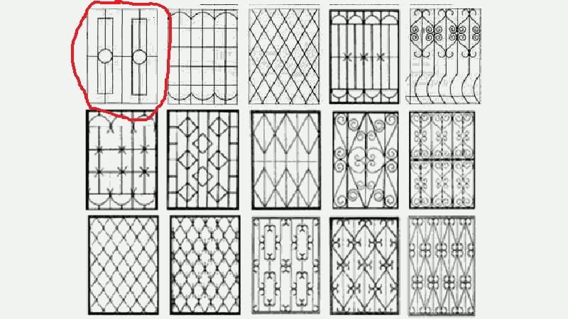 Решетка на окно металлическая размер 2м*h2.12м