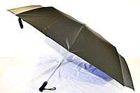 Мужской зонт черный, автомат, купол 125 см, антиветер