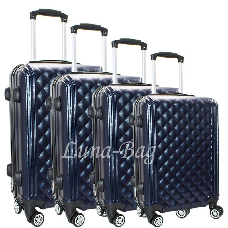 Набор из четырех чемоданов 6 Цветов Синий