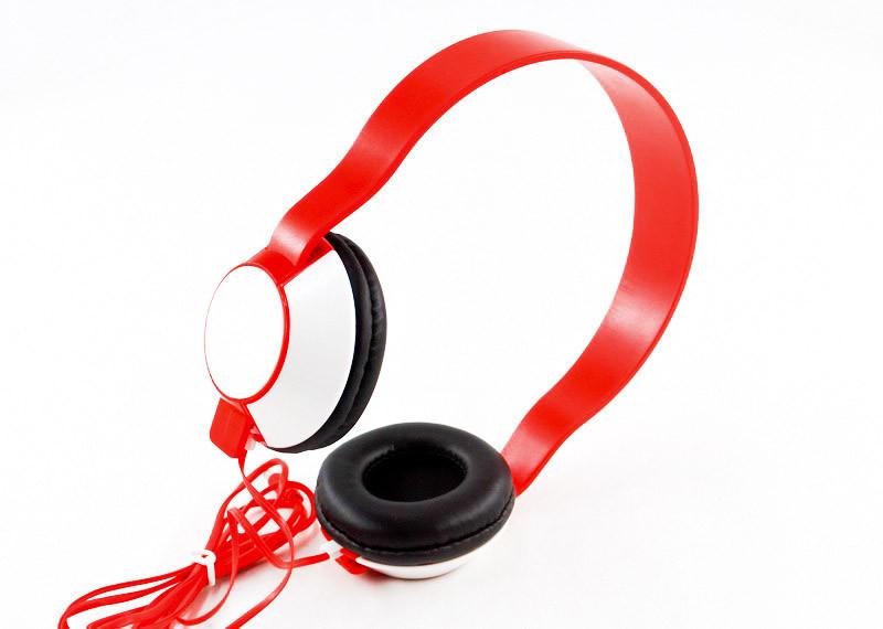 Накладні навушники SH-35, червоні