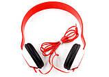 Накладні навушники SH-35, червоні, фото 2