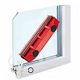 Щетка магнитная для мытья стекол с двух сторон Glider, красная, фото 5
