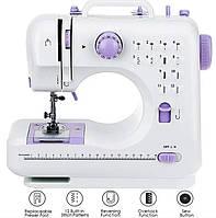 Електрична побутова швейна машинка для будинку UFR-705 на батарейках і від мережі (швейна машинка)