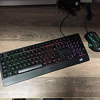 Игровой комплект клавиатура+мышь Zeus M710 для ПК компьютера и ноутбука с подсветкой геймерский комплект