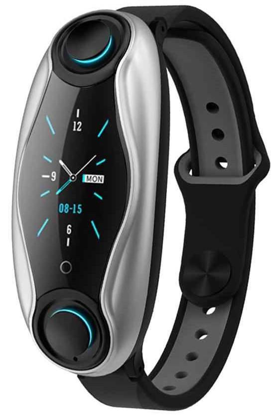 Фітнес-браслет з бездротовими навушниками Smart TWS T90 6940, чорний