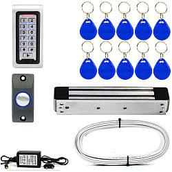 Электромагнитный замок ЕМ280-ЕКВ с кодовой клавиатурой для улицы