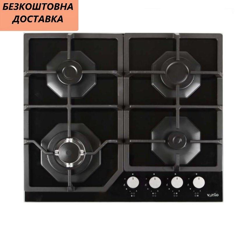 Варочная поверхность встриваемая Ventolux HSF640-R3G CESBT (BK) Газовая на стекле, Черная.