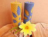 Набір воскових свічок з кольоровою вощини Квітковий Zigrivay (13х4,5см) 2 шт (10010), фото 2