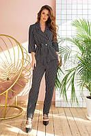 Стильний жіночий модний брючний костюм у діловому стилі : жакет+штани (р. 42-48). Арт-2335/2