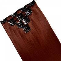 Набір тресс 7 шт № 350 темно-бордово-рудий
